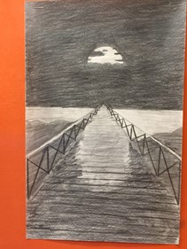 7th Grade Art:  One Point Perspective Drawing